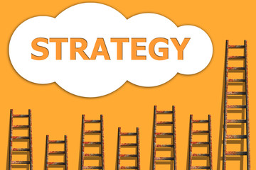 Strategy,wordding about success of business