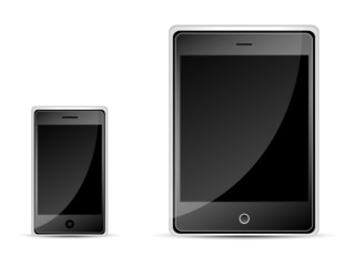 mobile phone and tablet PC