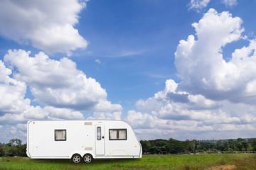Caravans camping