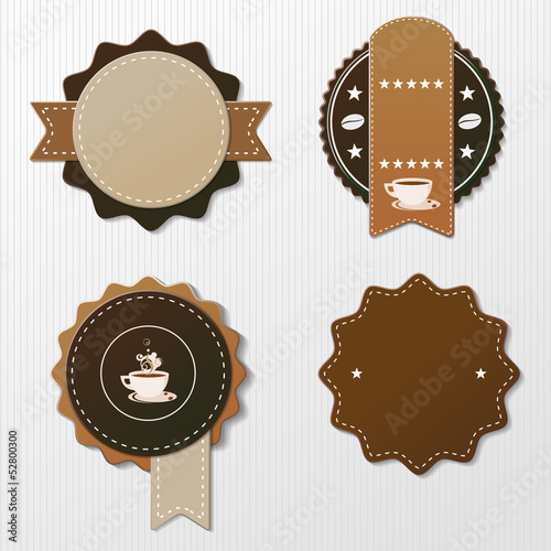 Four Coffee Labels With Text
