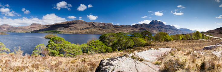 Panoramic of Mount Slioch and Loch Maree