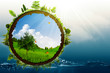 Green World, abstract environmental backgrounds