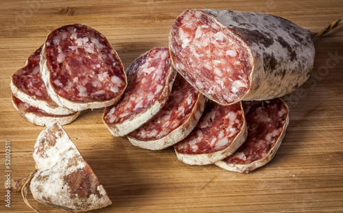 canvas print picture Saucisson coupé