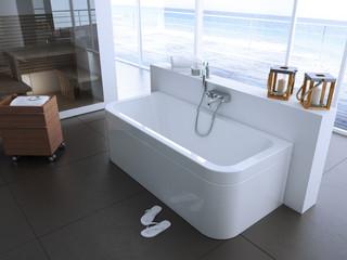 badewanne in einem appartement