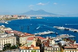 Fototapety wonderful Naples panoramic view with Vesuvius
