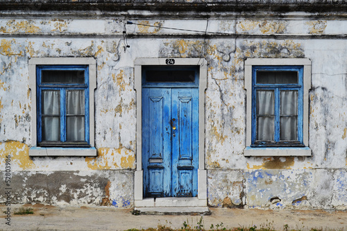 Old house blue windows