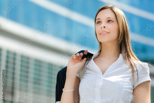 Young businesswoman looking forward