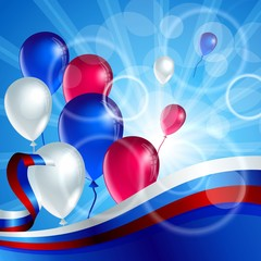 Яркие шары и линии цвета флага
