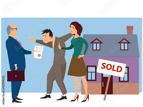 Conflict over real estate selling