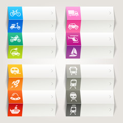 Rainbow - Transport and vehicle Icons