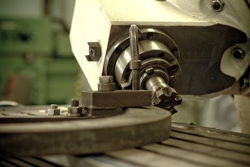 CNC drilling and miling in a workshop