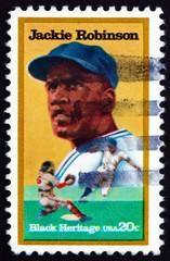 Postage stamp USA 1982 Jackie Robinson, Baseball Player