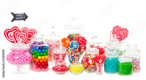 Fotobehang Snoepjes Candy Buffet