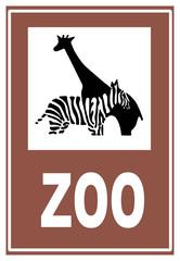Cartello zoo - bioparco - animali - giardino zoologico