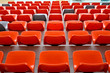 Red audience seat in stadium