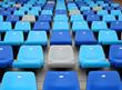 Stadium seat in blue color
