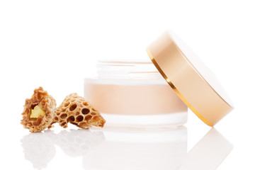 Luxurious royal jelly cosmetics.