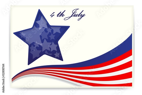 American flag , Business cards