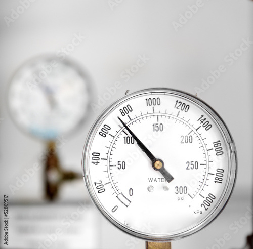 Gas gauge closeup