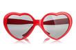 Leinwanddruck Bild - sunglasses like a heart
