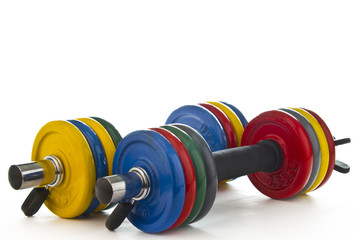 Set of dumbbells