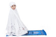 Attractive muslim woman pray - isolated