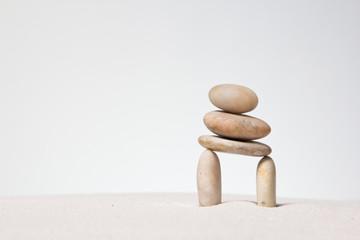 Stones stacked.