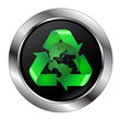 Recycle Button With Earth