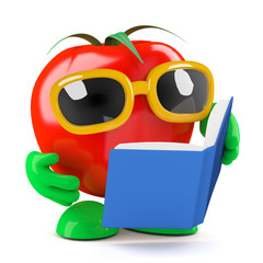 Tomato loves to read