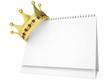 Crown on the desktop calendar