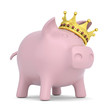Crown on the piggy bank