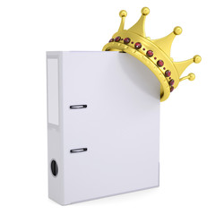 Crown on the office folder