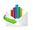 business email with an inside graph illustration
