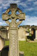 Celtic Cross Gravestone in Old Graveyard