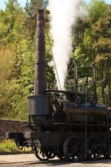 Old 1800's Steam Engine Firing Up