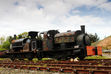 Old Abandoned Coillery Steam Engine