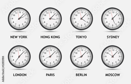 Time Zone World vector illustration