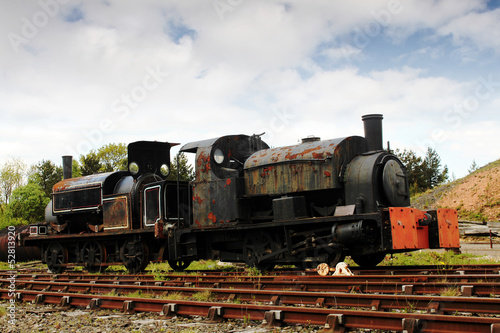 Old Abandoned Coillery Steam Engine Poster