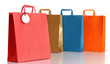 Assorted colored shopping bags