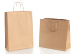 Two paper shopping bags with  handles