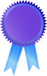 Plakete Medaile Preisschild Zertifikat Blau Violett