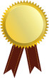 Gold Plakete Werbung Vector Medaille