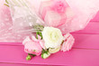 Ranunculus (persian buttercups) and gift,