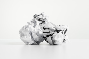 Three paper ball on desk
