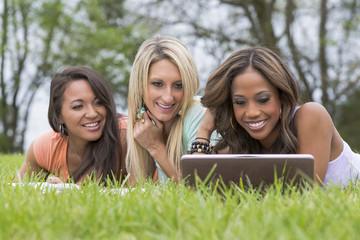 3 Girls Enjoying The Park