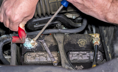 Automobile battery replacement