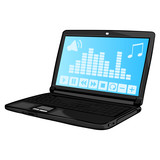 Laptop with music