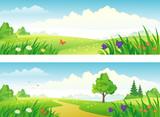 Fototapety Landscape banners