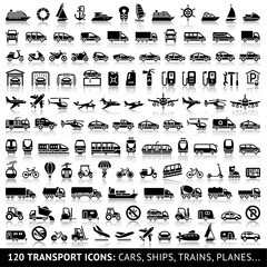 120 Transport icon with reflection