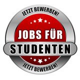 5 Star Button rot JOBS FÜR STUDENTEN JB JB